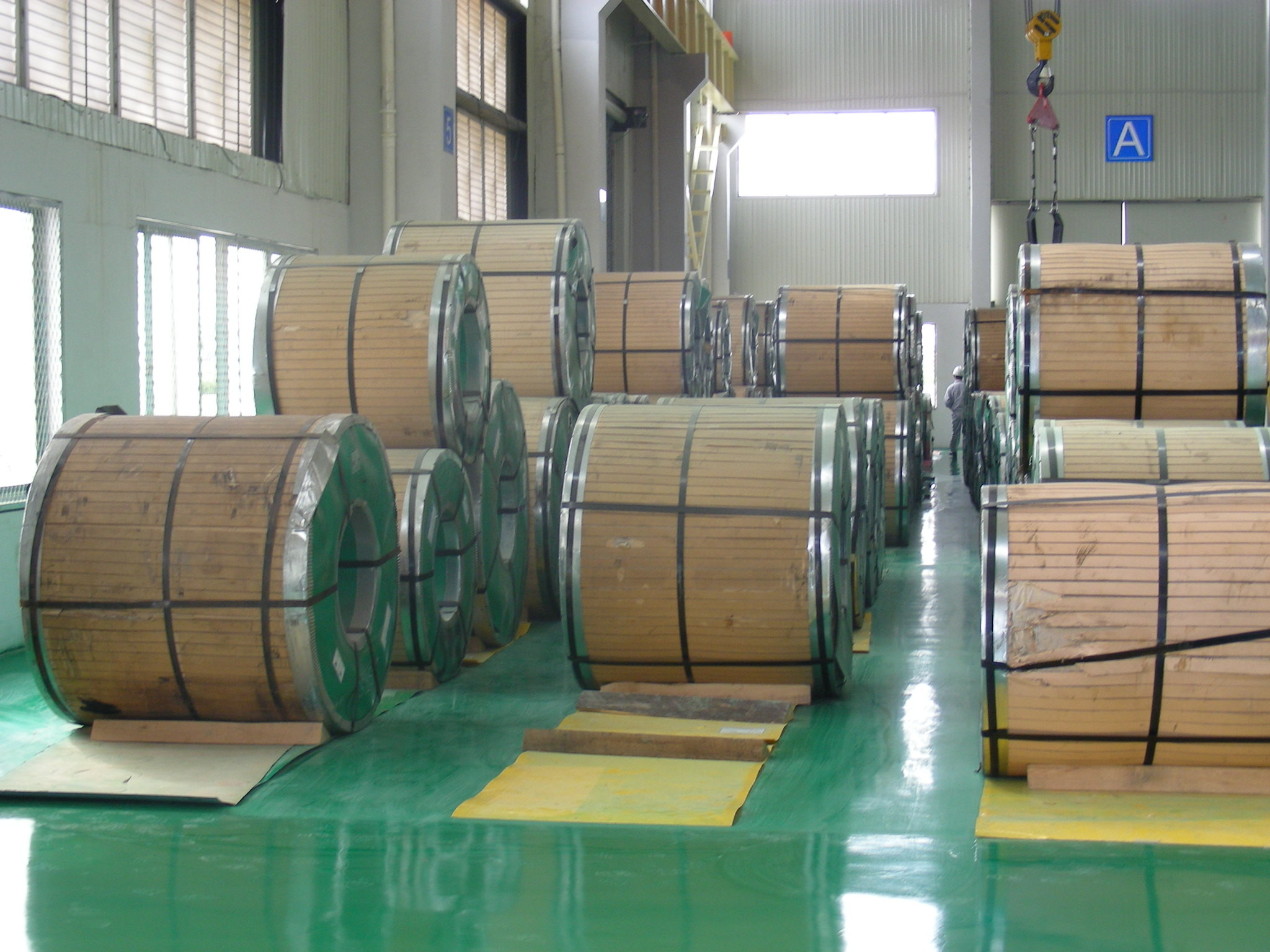 201L1, 430/BA Stainless Steel Sheet Coil, Width of 1219mm, 1500mm
